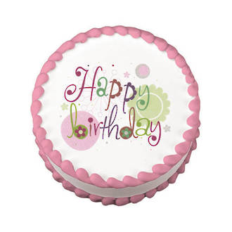 Serendipity Birthday Edible Icing Image round 16cm