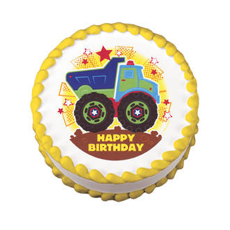Truck Edible Icing Image round 16cm
