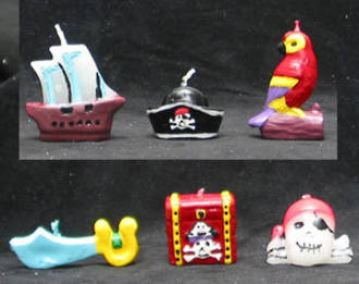 "Candle Mixed Set ""Pirates Ahoy"" 30-60mm (6)"