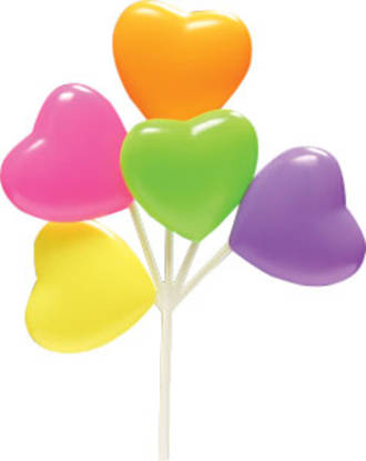 Heart Balloons-5 Hot Colours assorted
