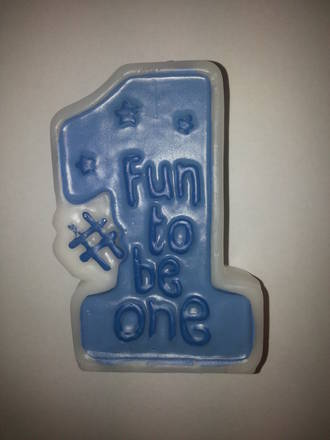 """Fun To Be One"" Candle (Blue)"