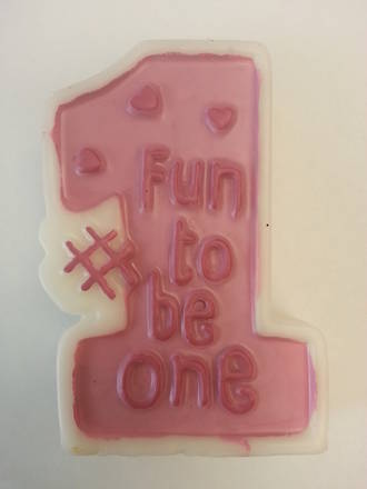 """Fun To Be One"" Candle (Pink)"