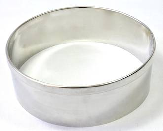 Stainless Steel Cake Rings 225 x 50mm deep, Stainless steel - made to order