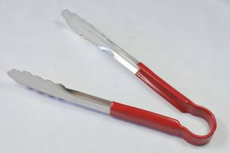 23cm Stainless Steel Tong, Red Handle