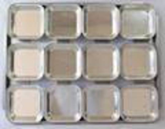 Palletized Pie Tins, (12) Square 108x27mm, Tray size 460X360mm