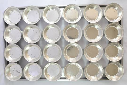 Palletized Pie Tins, (24) x Round Very Deep Tins, 113 x 42mm, Tray size 720 x 460mm NB: Tray corners optional