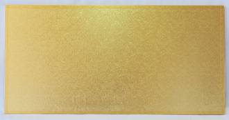 """740mm x 400mm   29"""" x 16"""" Rectangle 4mm Cake Card Gold"""