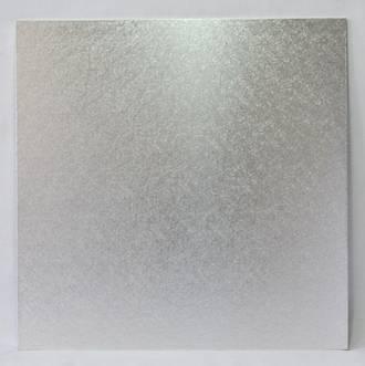 """Square 16"""" MDF Board, Silver"""