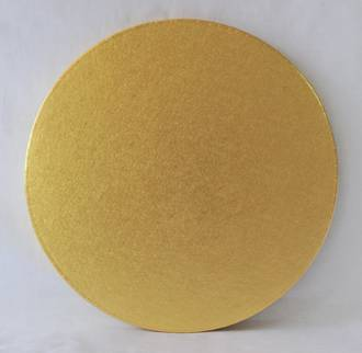 "Polystyrene Cake Board, Round, Gold Covered, 9"" (225mm)"