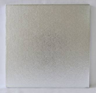 "Polystyrene Cake Board, Square, Silver Covered, 15"" (375mm)"