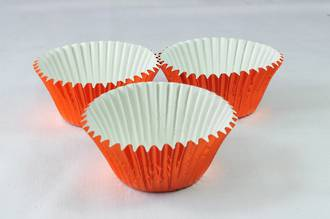 Foil Orange Cups 50x35mm, pkt 500