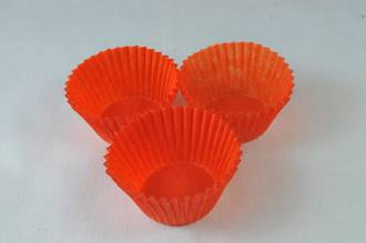 Burnt Orange Cups  30 x 21mm, Glassine,pkt of 500