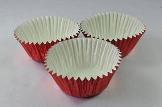 Foil Red Baking Cups  44 x 30mm, pkt 500