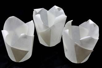 White Folded Cups 175x60mm (200) - Narrow Fold