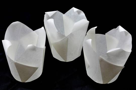 White Folded Cups 150x50mm (200) - Narrow Fold
