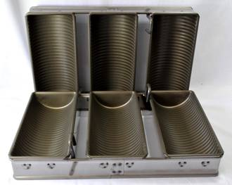 Tank Loaf Pan (Set of 3) 276x102mm, Overall Size: 400x290x113mm