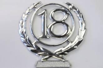 65mm 18 Numeral Wreath, Silver