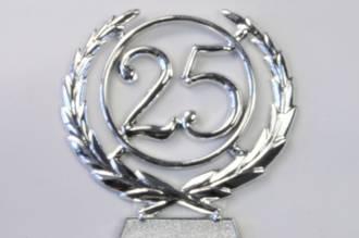 65mm 25 Numeral Wreath, Silver