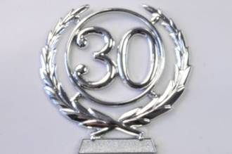 65mm 30 Numeral Wreath, Silver