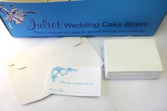 "Wedding Cake Boxes (Box of 20 units 3"" x 2"" x 1"" in size)"