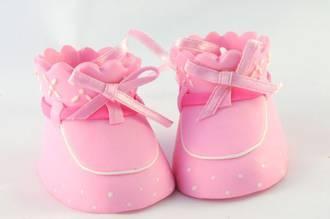 Booties Pink pair 62mm