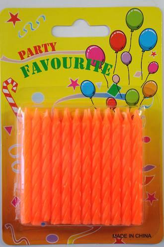 Candle Twist Orange (24)