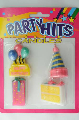Party Time Candles (Set of 6)
