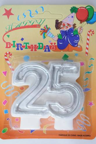 Candle 25 Numeral Silver