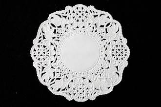 Doyleys, Round 126MM white, Paper lace doyleys (250) - SOLD OUT