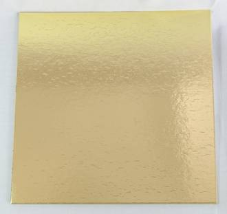 """450mm or 18"""" Square 4mm Cake Card Gold"""