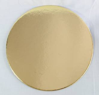 "225mm or 9"" Round 2mm Cake Card Gold"