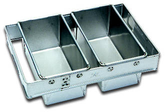 680gm Bread Pan (Set of 2) Top Measure: 405x260mm, 120mm deep