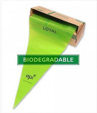 "22"" (550mm)  Biodegradable Non Slip Green Bags (100)"