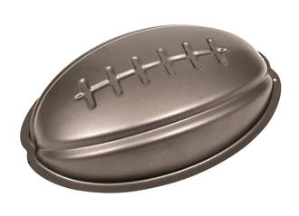 Rugby Ball Teflon Coated Tin.  Size: 290x180mm