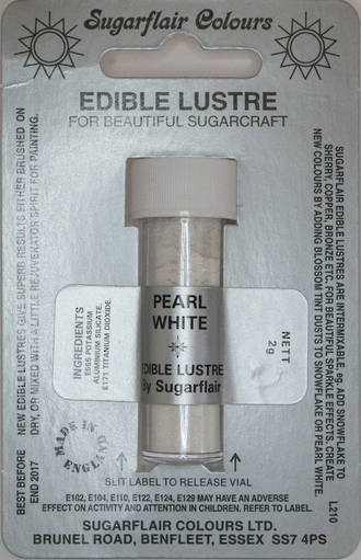 Sugarflair Edible Lustre Colour Pearl White