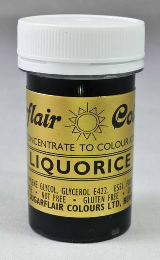 Sugarflair Spectral Colour Liquorice - Dated End 2018