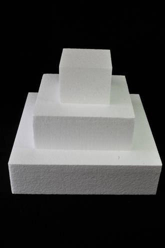 "5"" Square Cake Dummy, 75mm deep, Polystyrene"