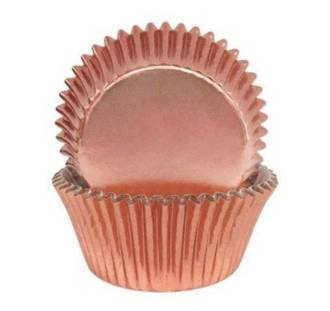 Foil  Rose Gold Cups  50 x 35mm, pkt 500
