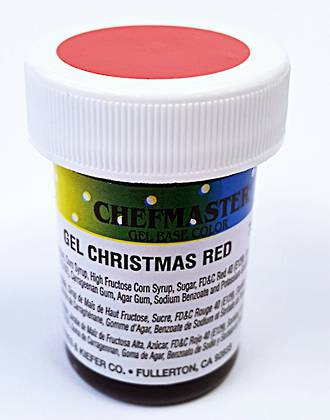 Chefmaster Colour Gel Christmas Red  box of 12 x 1oz - SOLD OUT