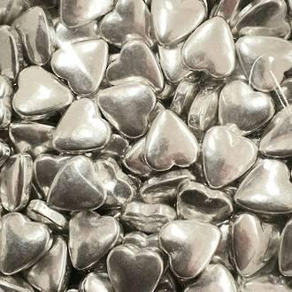 Tablet Hearts Silver 10mm (1kg bag)