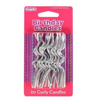 Candle Spiral Silver (20)