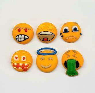 Emoji Faces - Funny Faces 20mm (30)