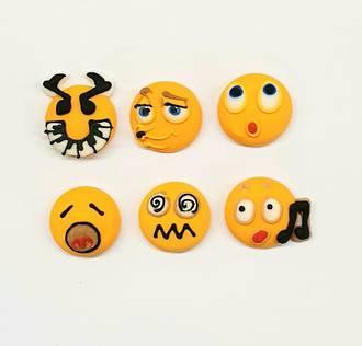 Emoji Faces - Musical 20mm (30)
