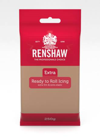 Renshaw: Extra- Teddy Bear Brown Icing 250g (Box of 12)
