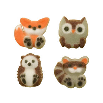 Forest Friends Assortment Dec-on Sugar Decorations 21mm (Box of 168)