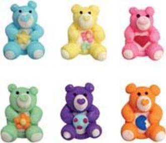 Icing Teddy Bears, 25mm - 128 per box (21 sets of 6).