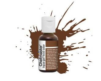 Chefmaster Liqua Gel Buckeye Brown .70oz Bottle