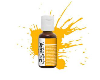 Chefmaster Liqua Gel Golden Yellow .70oz Bottle - SOLD OUT