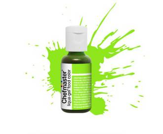 Chefmaster Liqua Gel Neon Brite Green .70oz Bottle