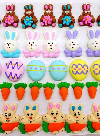 Easter Collection, Assorted 2D Icing Items (45)